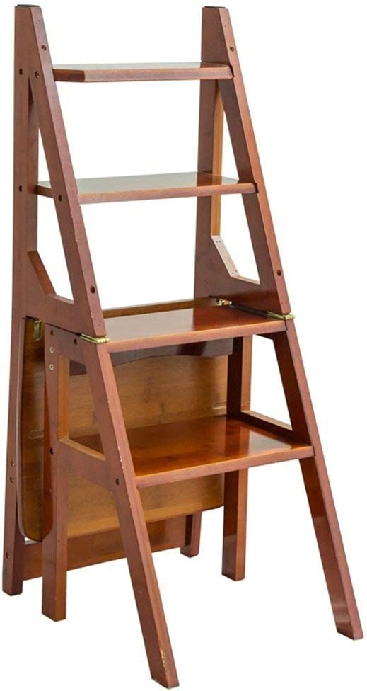 DNSJB Folding Ladder Stool Chair Max 73% OFF Four-Step Multi-Functi Louisville-Jefferson County Mall