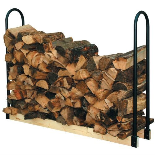 Best Deals! BeUniqueToday Adjustable Length Firewood Log Rack for Indoor or Outdoor Use, Adjustable Length Log Rack, Ideal for Storing, Drying or Displaying Firewood, Powder Coated to Withstand The Elements