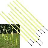 Bluedot Trading Soccer Agility Training Poles, Fixed 5ft (8pc), 8 Poles