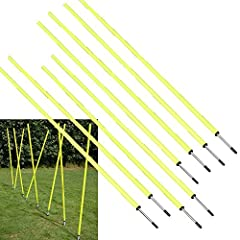"""PERFECT FOR TRAINING: Soccer, football, or agility training for any sport! SIZE: Pole - 5' 3-3/4""""; Spike - 4-1/2""""; Overall - 5' 8-1/4"""" QUANTITY: 8 Poles MATERIAL: Plastic pole with metal spike USES: foot speed, balance while changing direction, agili..."""