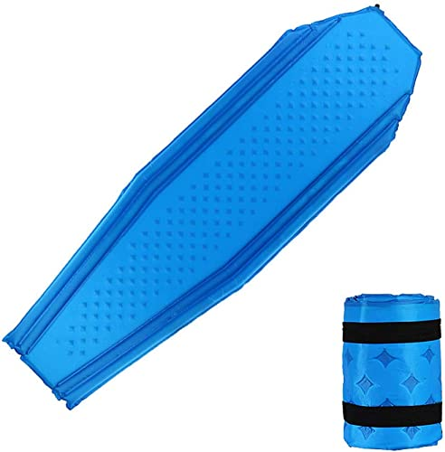 Forall-Ms Tapis De Camping Auto-gonflant, Tapis De Couchage Léger pour Tapis De Camp Tapis De Lit Gonflable en Mousse pour Lit De Camping pour Sac De Couchage,bleu