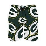 Green Bay Packers Men's Swim Trunks,Quick Dry Beach Short Elastic...