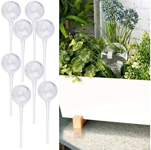 Royal Gardineer Wasserkugeln: 8er-Set Gießfrei-Bewässerungs-Kugeln aus Glas, transparent, Ø 6 cm (Bewässerungskugel für Pflanzen)