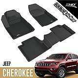 3D MAXpider para Jeep Cherokee 2016-2021, Aptas para Todas Las Condiciones Climáticas, Alfombrillas de Goma de Coche
