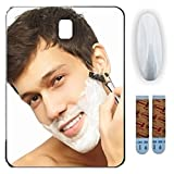 Fog Free Shower Mirror ~ Large Size Premium Fogless for No Fog Shaving ~ Anti Fog Mirror INCLUDES 3M Command Hook for Bath ~ Won't Fall ~ Surface Safe Hanging ~ Movable by Shave Pal