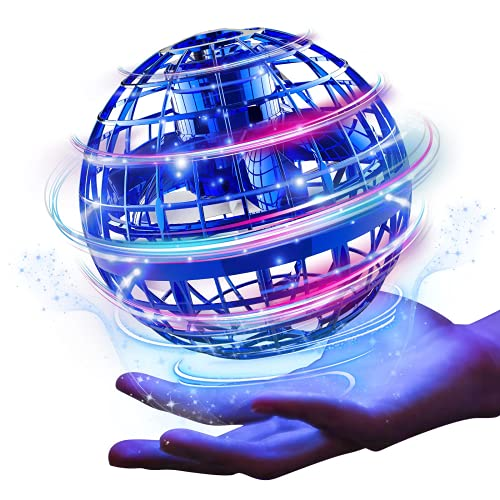 Pallina volante aggiornata, giocattolo a forma di nebulosa, mini boomerang controllata magica, ricaricabile a 360 gradi rotanti per bambini dai 6 ai 10 anni, giochi interni e esterni (A- blu)