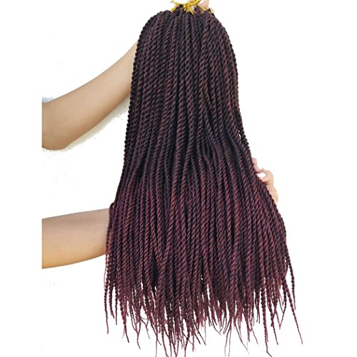 Flyteng senegalese ombre braiding hair 18 inch 8 Packs Synthetic Twist Hair Crochet Braids