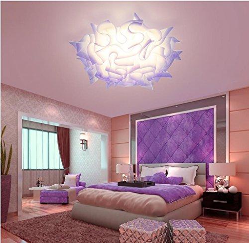 Lily's-uk Love Lumière de plafond Chambre Lumière Moderne Simple Créative en forme de fleur Led Changement de couleur Romantique Romantique Salle de mariage Lumières Lumières pour chambre d'enfants - Violet