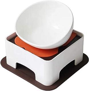 Siyo フードボウル 食器台 ゴムマット セット ペット (ホワイト)