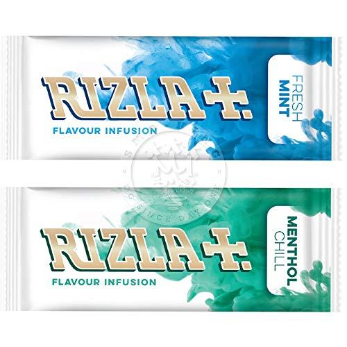 Rizla Menthol Chill Aroma-Karten, Schachtel mit 25 Stück