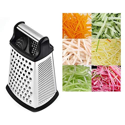 SISHUINIANHUA Edelstahl-Reibe Frucht-Gemüse-Tools 4-Sided Boxed Reibe Handreibe Slicer Küchenwerkzeuge Obstsalat Käseschneider