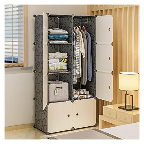 YUXI8541NO Armario portátil para armario, armario, portátil, color blanco, organizador de almacenamiento de ropa, 74,9 cm de largo x 47 cm de profundidad x 147,8 cm de alto (8 cubos)