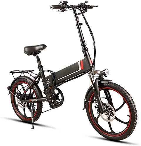 Ebikes 20'Bici de montaña eléctrica Plegable 350W Motor 48V 10.4Ah batería de Litio 21 Velocidad 4 Modos de Trabajo E-Bike para Adultos ZDWN