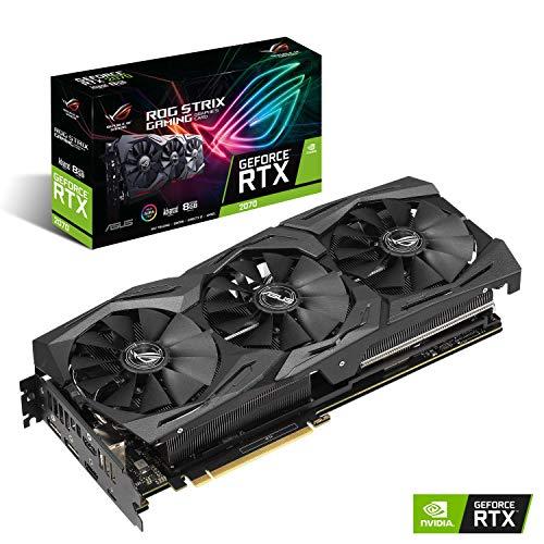 Asus ROG-Strix-gaming-videokaart (Nvidia, PCIe 3.0, 8 GB DDR6 geheugen, HDMI, displaypoort, USB Type-C) Advanced zwart