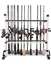 Fishing Rod Rack Metal Aluminum Alloy Fishing Rod Organizer Portable Fishing Rod Holder Hold Up to 24 Rods for All Type Fishing Pole