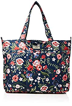 JuJuBe Limited Edition Super Be Large Everyday Lightweight Zippered Tote Bag Midnight Posy