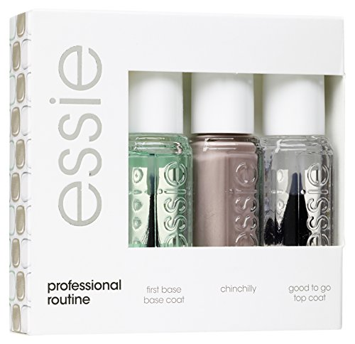 essie Routine Collection 300 Chinchilly - nail polish sets (Capa base para uñas, Capa de acabado para uñas, Esmalte de uñas, Transparente, Protección, Transparente, Shining, Fast drying, Marrón)