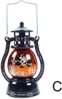 Apostasi Halloween Ornament Small Oil Lamp,Vintage Candle Lantern Hanging Lights, Decor Landscape Lanterns for Novelty Halloween Holiday Party Patio, Yard, Garden and Pathway Decoration