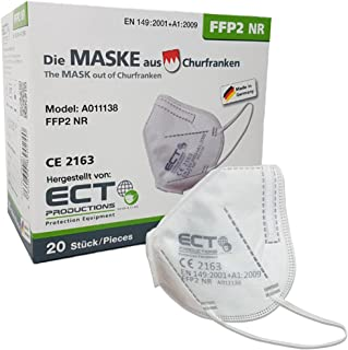 COCO BLANCO FFP2 Masken CE Zertifiziert aus Deutschland - 20X FFP2 Maske (NR) MADE IN GERMANY - Premium Atemschutzmaske FF...