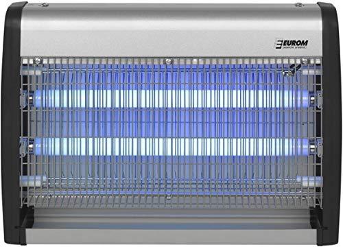EUROM Insektenvernichter Insektenlampe mit UV-Lampe 30W (2x 15W) und 150m² Reichweite