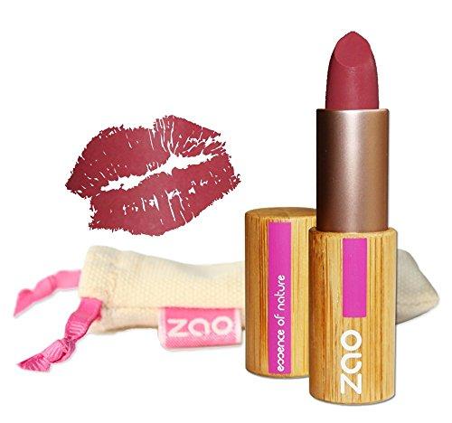 ZAO Matt Lipstick 462 old pink altrosa rosa-rot Lippenstift, in nachfüllbarer Bambus-Dose (bio,...