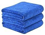 Seupeak Microfibra Coche Secado Toallas Absorbente Amplio Coche Limpieza S Peluche Toallas de Lavado de Autos Gruesas Auto Detallado Toallas 380GSM 40 cm x 60cm 3 Paquete Azul