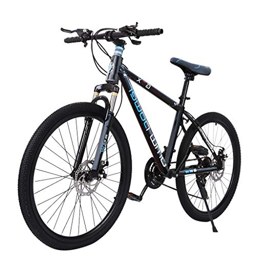 cobcob Adult Road Bike, 26 Inches Adult Outdoor Bikes Heavy-Duty Road Bicycle Racing Mountain Bike Urban Commuter Bicycle 21 Speed Disc Brake Bicycle Men Women Bikes Outdoor Sports (Blue)