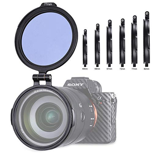 UURig Aluminum Rapid Camera Lens ND Filter Mount Bracket - 82MM, Use on Universal Lens for Canon Sony Panasonic Camera DSLR