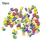50 Stück Sortiert Obst Radiergummis Miniatur Karikatur Radierer Kinder Geschenke Schulmaterial Zufällig von SamGreatWorld -