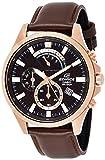 Casio Efv-530gl-5avudf Reloj Analógico para Hombre Colección Edifice Caja De Acero Inoxidable Esfera Color Marron