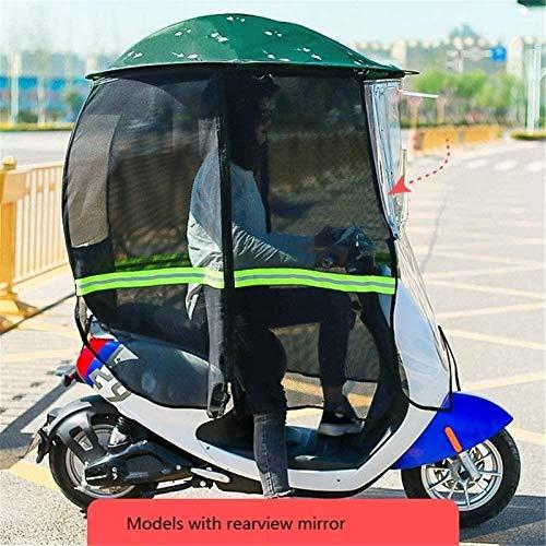 Toldo para Coche con Batería Eléctrica, Parabrisas De Coche Eléctrico para Motocicleta, Toldo, Parasol Reforzado, Protector Solar (Color : Green, Size : B)