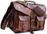 Jaald 40 Cm Tracolla in Pelle Valigetta Borsello Sacchetto del Messaggero Borsone a Spalla per Ufficio Vintage Uomo Borsa del portatile leather Laptop briefcase Messenger bag