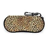 Funda para gafas de sol Leopard Skins Colorful Wild Animal Print Ultraligera, de neopreno, con cremallera, bolsa para gafas con mosquetón