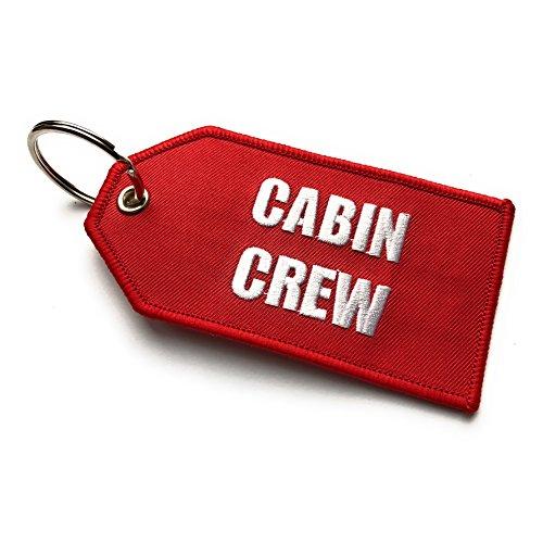 Cabin Crew/Do Not Remove from Aicraft Luggage Tag   Medio   Rojo/Blanco   aviamart