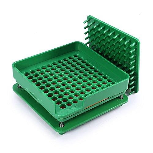 Máquina llenadora de cápsulas de 100 agujeros 00, llenadora de cápsulas vacías con esparcidor de polvo Herramienta de llenado manual de cápsulas, con instrucciones detalladas