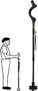 YiGooood 10 Height Adjustment Collapsible Hand Walking Stick Walking Stick for Men, Women