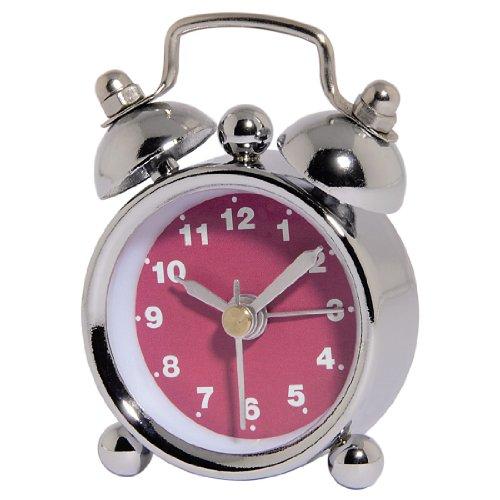 """Hama analoger Wecker """"Nostalgie"""", mini Glockenwecker mit lautem Alarm, pink"""