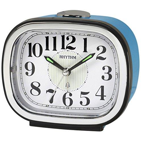 RHYTHM cra849nr04Campana Plástico, analógico reloj despertador luz Alarma Blanco