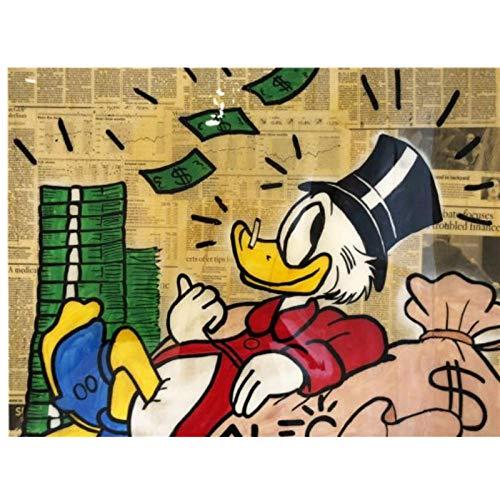 kingxqq Donald Duck Leinwand Malerei Poster Graffiti Drucke Wall Street Art Bilder Für Wohnzimmer Wohnkultur-50x70 cm Kein Rahmen