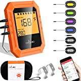 Bluetooth Meat Thermometer, Wireless BBQ Thermometer, 6 Probes Digital Cooking Thermometer for Oven...