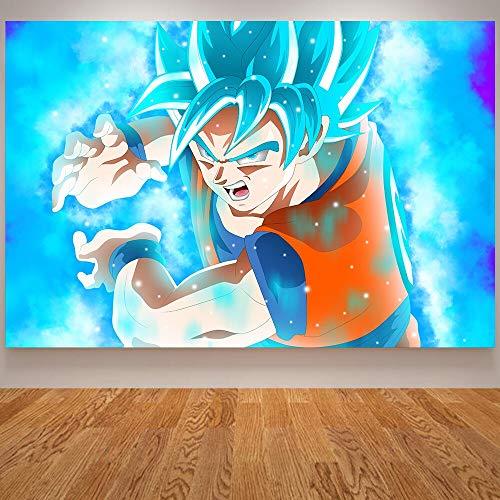 wZUN Lienzo Wukong póster Dragon Ball niños habitación Pared Pintura Anime decoración del hogar Arte niños póster 60x80 Sin Marco