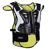 HBRT Chaleco de Armadura Profesional para niños, Bicicleta Motocicleta Armadura de Chaleco Protección para la Espalda Ciclismo Esquí Montar Monopatín Snowboard,L