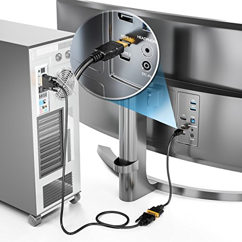 deleyCON HDMI zu DVI Adapter-Kabel - HDMI Stecker zu DVI Buchse 24+5-1080p Full HD HDTV 1920x1080 - vergoldete Kontakte - TV Beamer PC - Schwarz