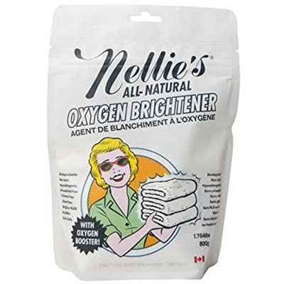 Nellie's Oxygen Brightener Powder Pouch, 50 Scoops- Removes Tough Stains, Dirt and Grime
