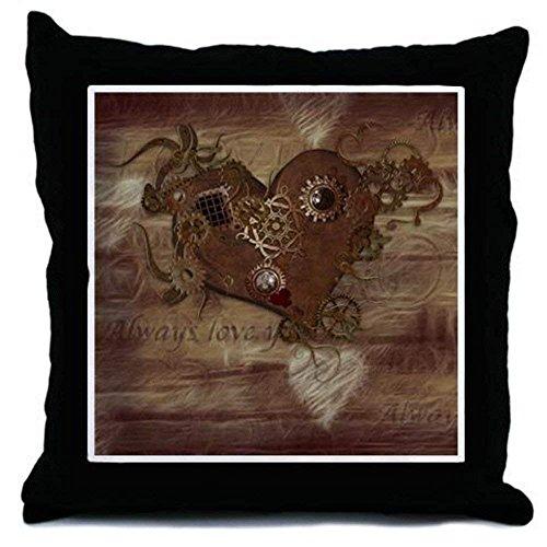 Monsety Steampunk Love - Funda de cojín (45 x 45 cm, lona)