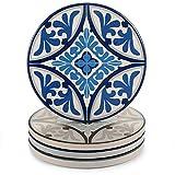 PeuPlier-DYH Posavasos absorbentes de cerámica para bebidas Mandala (4 piezas Set Retro Pattern Style) con súper absorbente agua y resistente al calor, posavasos redondos de 10,8 cm