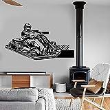 Kart wall vinyl art decals kart racing super kart speed car stickers niños niños dormitorio sala de juegos habitación para adolescentes decoración del hogar