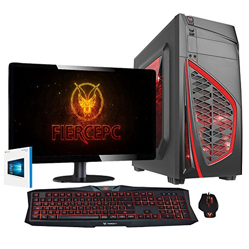 Fierce VULTURIS - 4,4GHz AMD X4 880K Vierkern übertaktete Prozessor, AMD RX 460 2GB Grafikkarte, 16GB RAM 1TB Festplatte Gaming PC Desktop Computer Pack - HDMI/USB3 - 222787