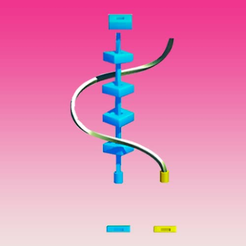 Twisty Line Puzzle - Rings Roll 3d
