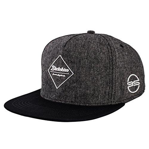 Blackskies Snapback Cap Schwarz Braun Grau Wolle Schirm Unisex Premium Baseball Mütze Kappe, Anubis, Einheitsgröße